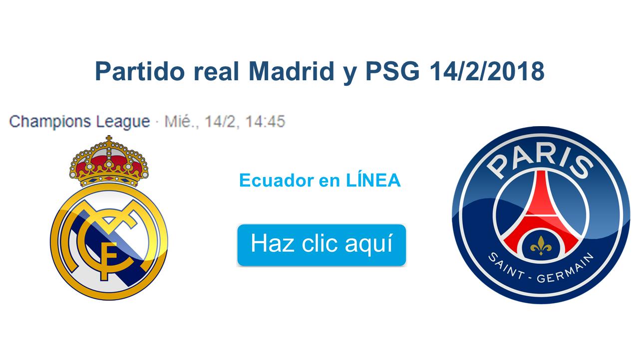 El partido de ida se dará el miércoles 14 de febrero entre el real Madrid y PSG