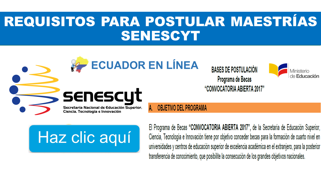Requisitos para Postular Maestrías Senescyt