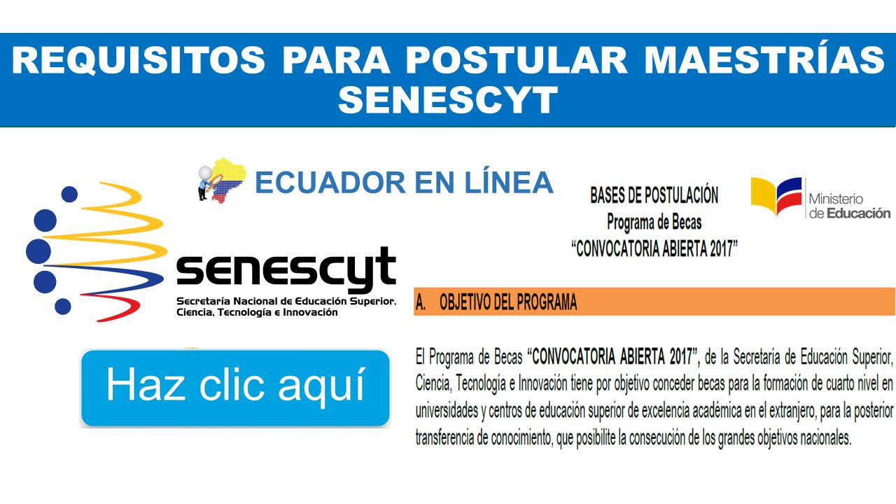 Requisitos para Postular Maestrías Senescyt