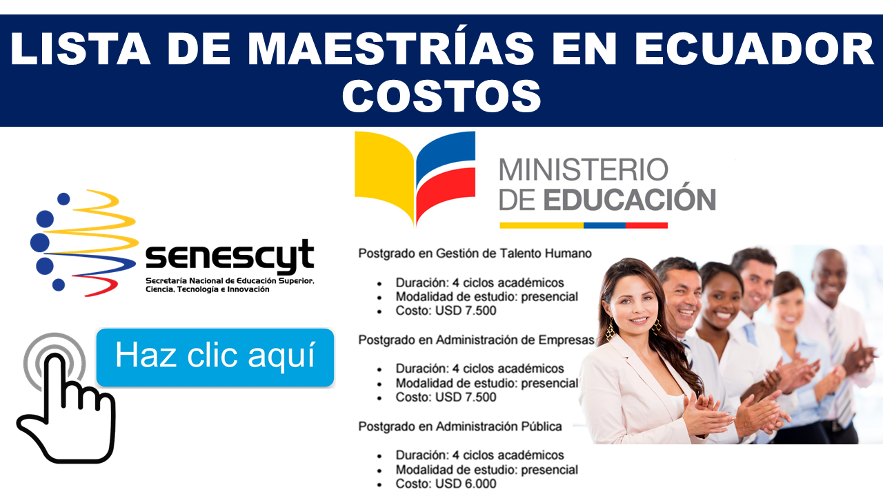 Lista de Maestrías en Ecuador | COSTOS