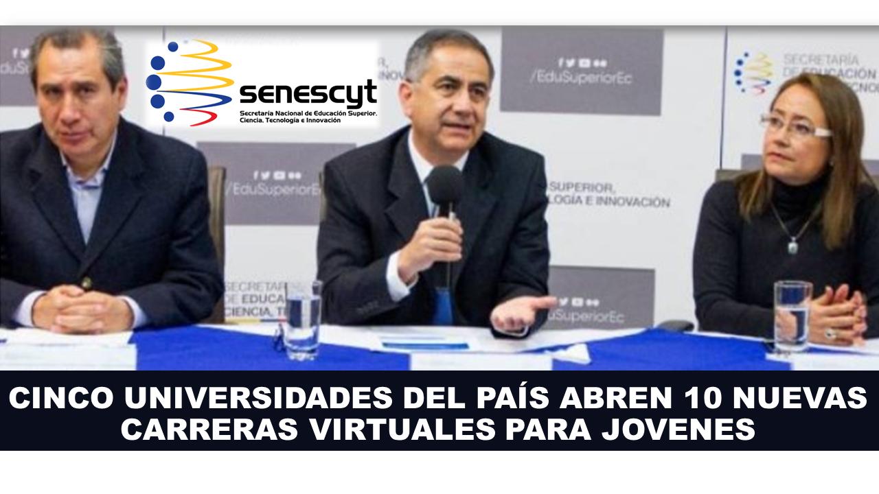 CINCO UNIVERSIDADES DEL PAÍS ABREN 10 NUEVAS CARRERAS