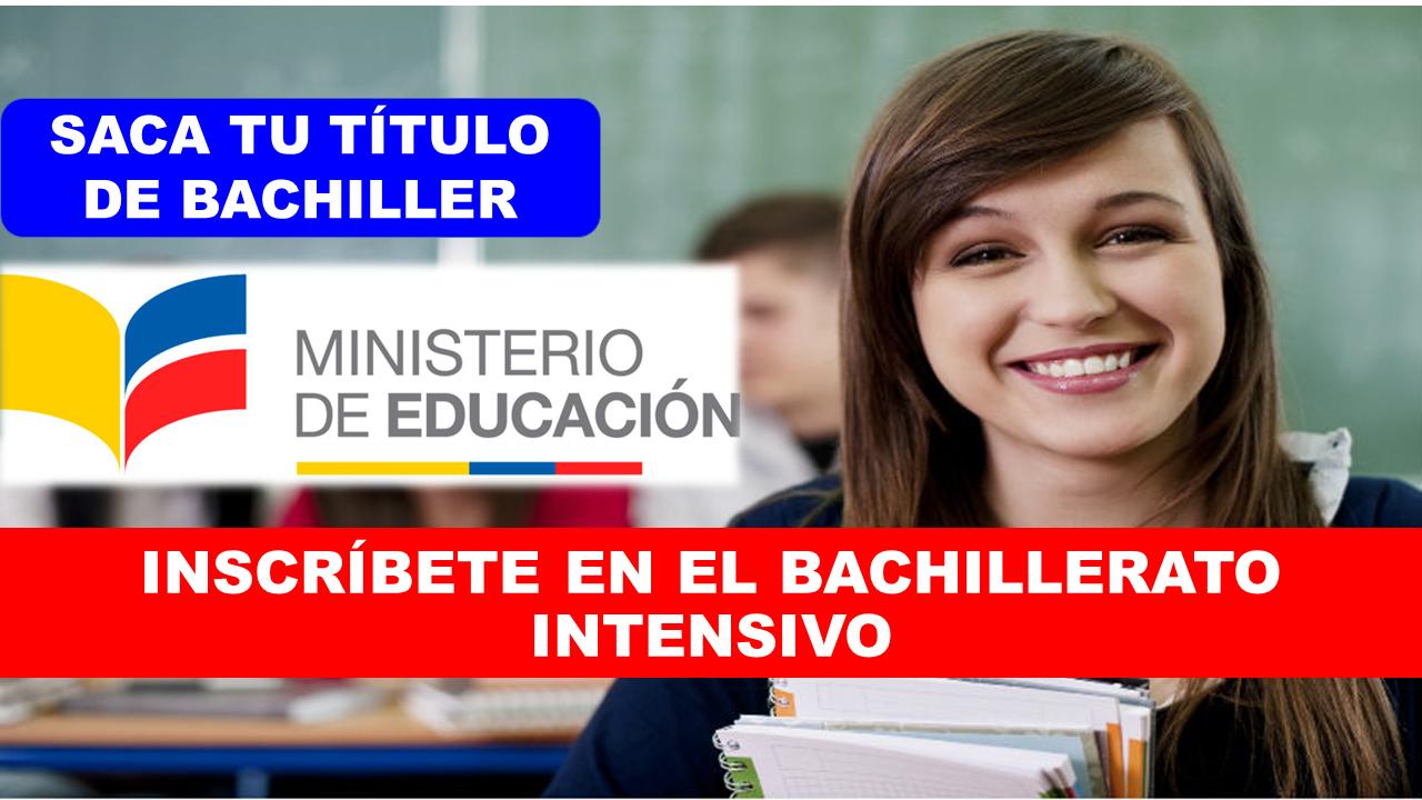Bachillerato Intensivo Ecuador Ministerio de Educación