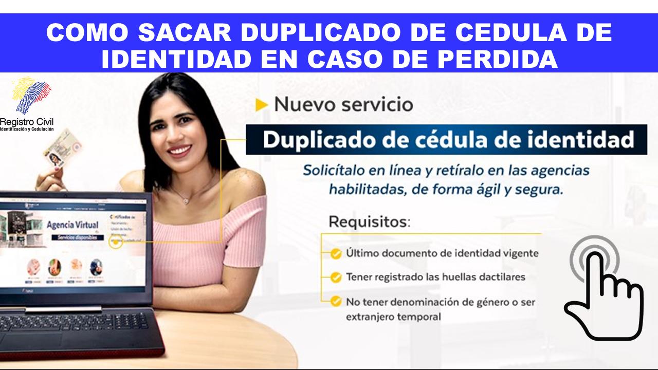 Como sacar duplicado de cédula Ecuador